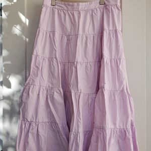 Jcrew pastel lilac maxi skirt